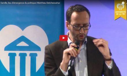 La famille lieu d'émergence du politique | Mathieu DETCHESSAHAR